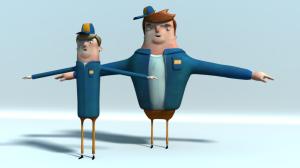 Characters test renders